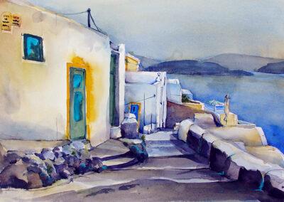 Oia Santorini 50x35 cm
