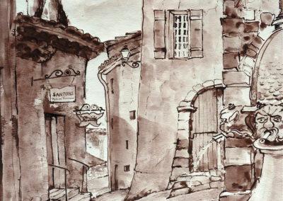 Seguret Provence 30x48 cm