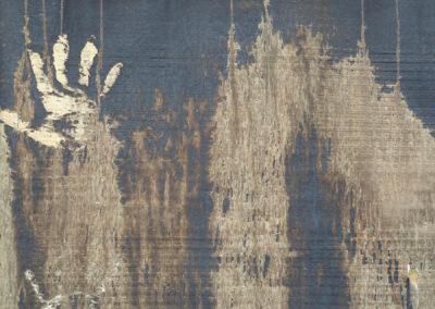 H.P. Götze: Wandgestaltung der Natur, mit Handabdruck als Signatur
