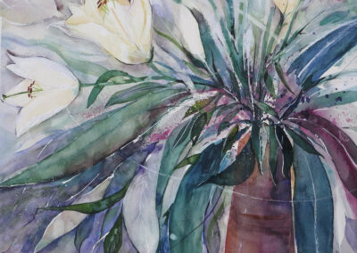 H.P. Götze: Tulpenstrauß 35 x 45 cm